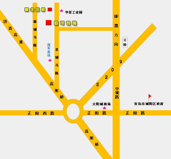 青岛即墨城马路地图